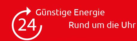 Energie rund um die Uhr